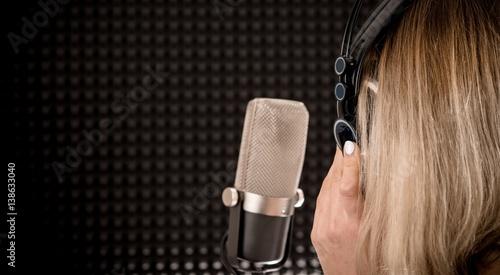 Plakat Koncepcja nagrywania piosenek