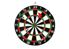 Dart Game Board Over White