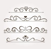 Set Of Four Calligraphic Valen...