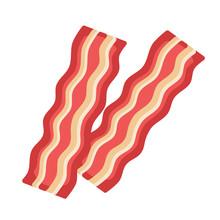 Bacon On White Background.