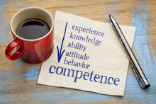 Competence Concept On Napkin W...