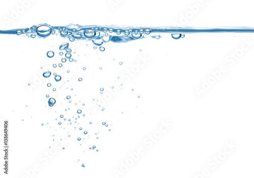 Fotografía  Clean blue water and air bubbles