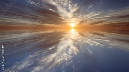 Fotografie, Obraz abstract the dawn . bright background picture
