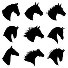 Horse Head Vector Silhouettes