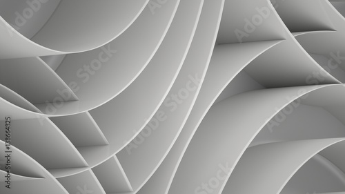 Abstract background with spirals, 3 d render - 138664825