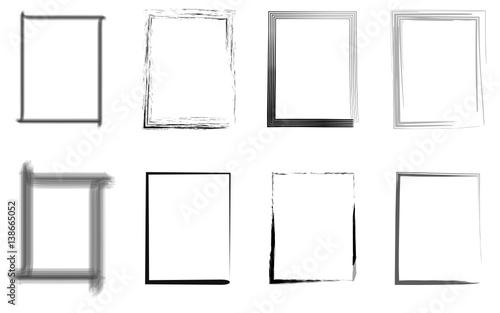 Fototapeta Rahmen Set schwarz grau