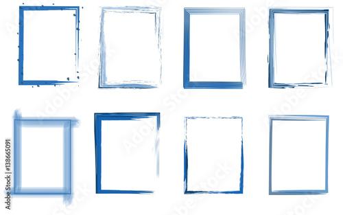 Obraz na plátně Rahmen Set blau