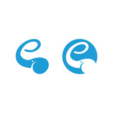 Elephant Logo Showing Letter E...