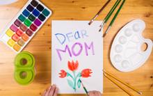 Kid Draw Greeting Card For Mot...