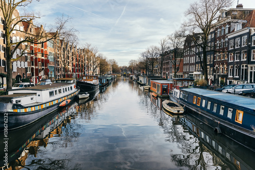 Fotoposter Amsterdam Amsterdam canals in winter