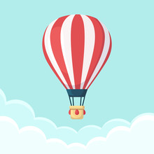 Hot Air Balloon In The Sky Wit...