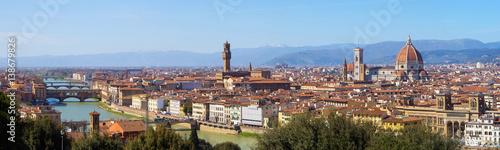 Plakat Miasto Florencja w Tuscany, Włochy