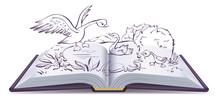 Illustration Open Book Fairy T...