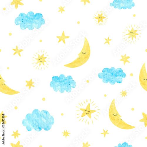 dziecinna-szwu-z-ksiezyca-chmur-i-gwiazd-tlo-dla-projektowania-dzieci