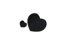 Black Heart Shape Box On White Background.