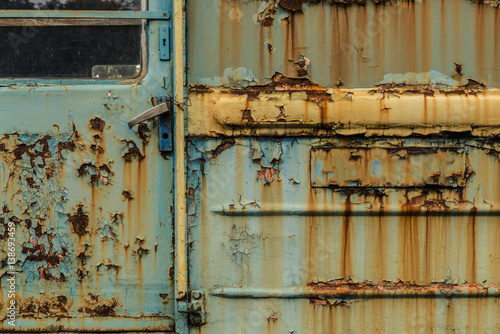 Fototapety, obrazy: Abandoned soviet era trains in a railroad yard in Ukraine.