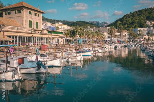 Foto op Aluminium Stad aan het water Marina of Port de Soller, Mallorca, Spain