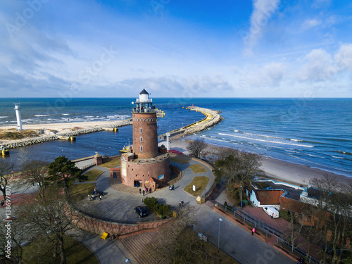 Foto auf Leinwand Leuchtturm Lighthouse on the baltic seashore