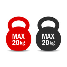 Maximum Load Weight Vector Icon