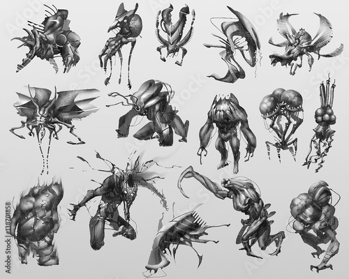 Fotografie, Obraz creature concept design