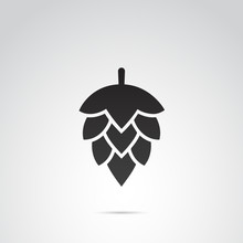 Hop Vector Icon.