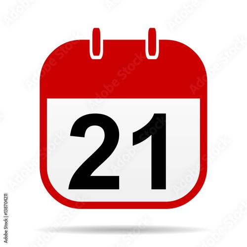 Poster  21 calendar icon