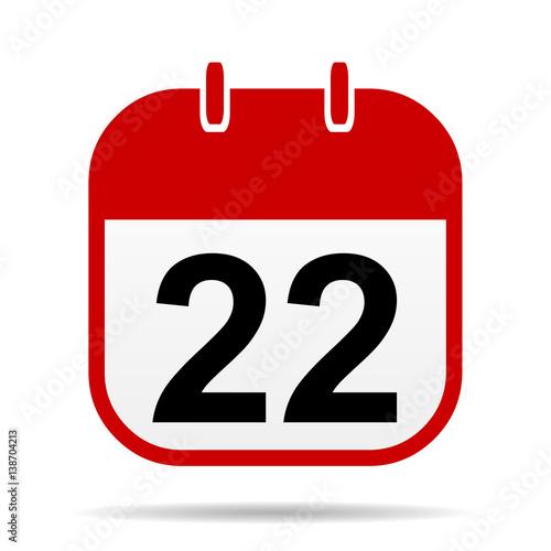 Poster  22 calendar icon