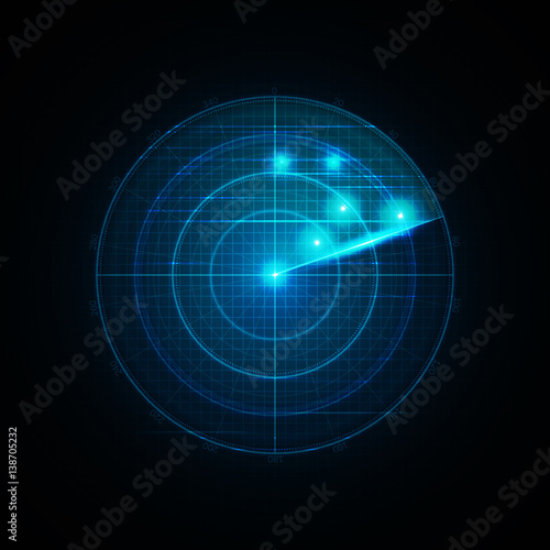 Photo  Realistic vector radar in searching