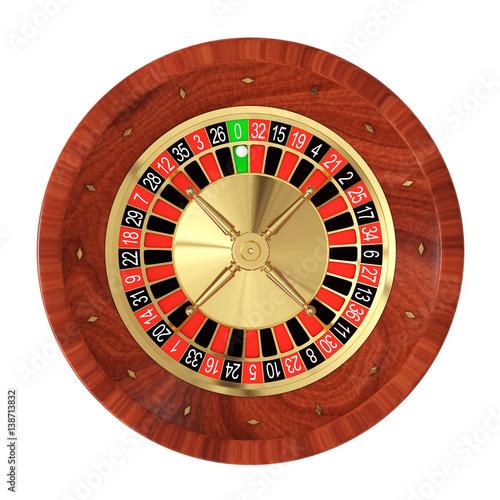 Fototapety, obrazy: Casino Roulette Wheel. 3d Rendering