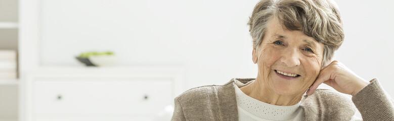 Older happy woman