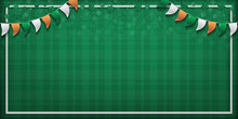 Vector Green Background For St...