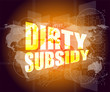 dirty subsidy on business digital touch screen