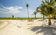 Beach in Rum Point on Grand Cayman island
