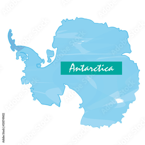 Photo Isolated map of Antartica on a white background, Vector illustration