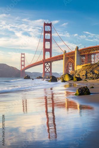 Keuken foto achterwand San Francisco Golden Gate Bridge at sunset, San Francisco, California, USA