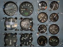 Vintage Flight Instrument Panel