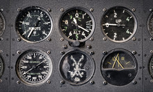 Vintage Flight Instrument Panel