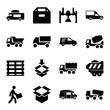 Set of 16 deliver filled icons