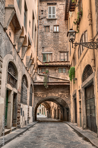 Staande foto Parijs Florence, Tuscany, Italy: alley in the old town