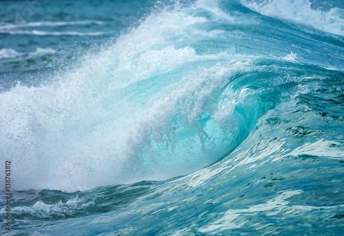 Foto auf Gartenposter Wasser waves curling