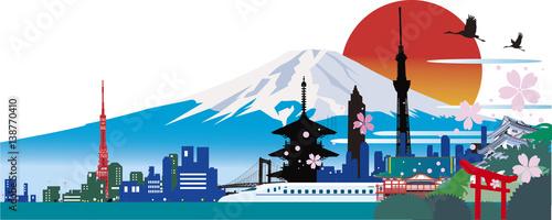 日本のランドマーク Poster Mural XXL