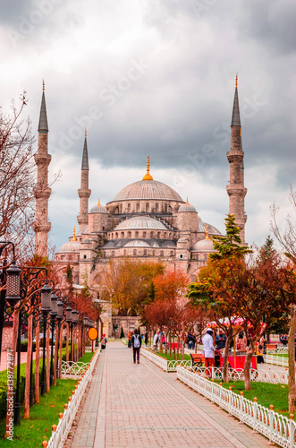 Printed kitchen splashbacks Turkey The Blue Mosque, (Sultanahmet Camii), Istanbul, Turkey.