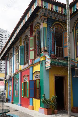 Foto op Plexiglas Cyprus Building fragment at Kampong Glam neighborhood, Singapore