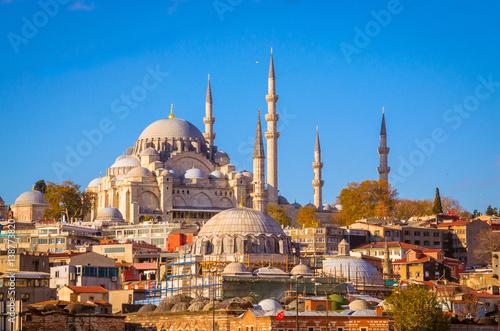 Aluminium Prints Turkey Suleymaniye mosque in Istanbul, Turkey