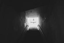 Dimly Lit Stairwell