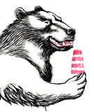 Happy bear with an ice cream - 138787890