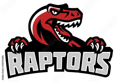 Raptor head mascot Wallpaper Mural