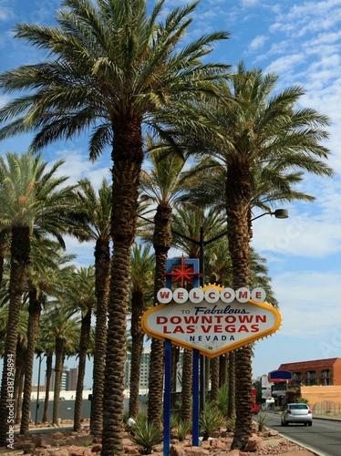 Poster Las Vegas panneau Downtown Las Vegas, fabulous,