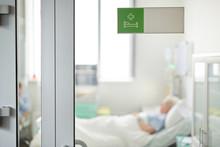 Hospital Ward Sign On Closed G...