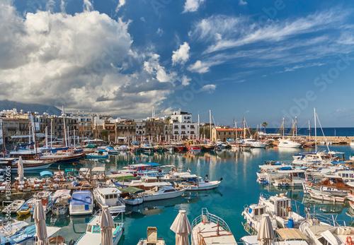 Garden Poster Cyprus Kyrenia harbour. Kyrenia (Girne), Cyprus.
